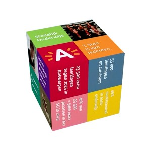 Magic Cube - Vouwkubus 8x8x8 (bedrukte stickers)